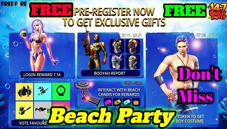 Event Beach Party Free Fire