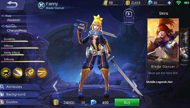 Fanny Mobile Legends