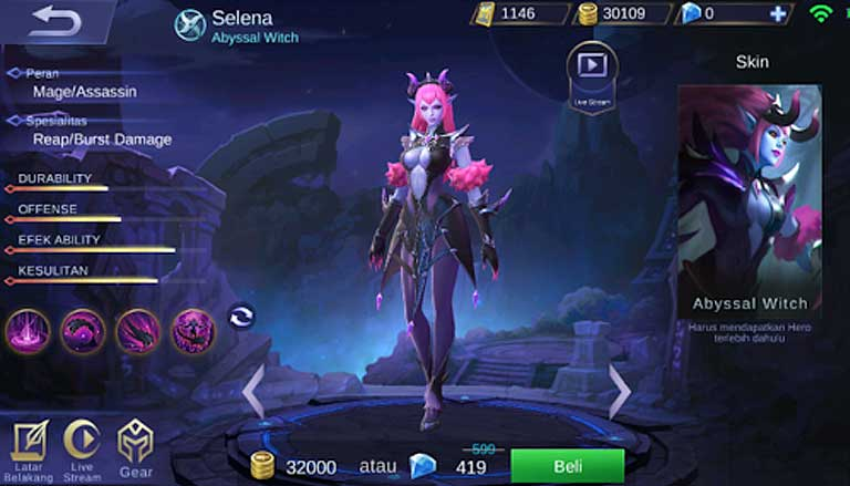 Selena Mobile Legends