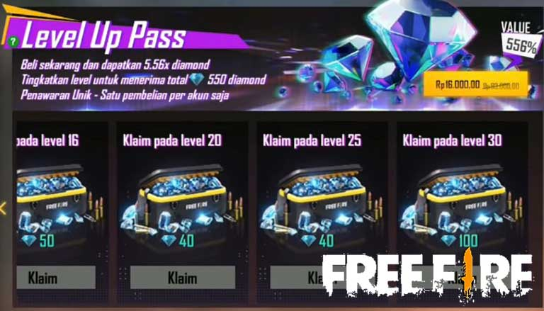 Penjelasan Event Level Up Free Fire Terbaru